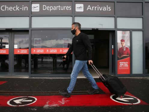 Travellers arriving in Scotland directly will have to quarantine in a hotel for 10 days from Monday (Andrew Milligan/PA)