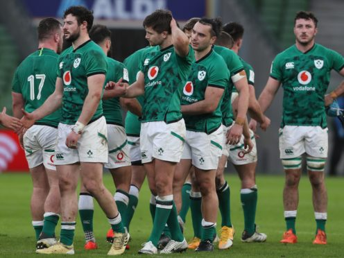 Ireland were beaten by France last time out (Brian Lawless/PA)