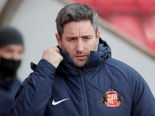 Lee Johnson was happy was a professional Sunderland performance (Richard Sellers/PA)