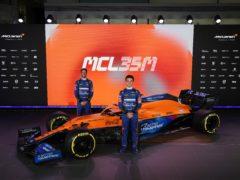 Lando Norris and Daniel Ricciardo unveil the new McLaren (McLaren F1/PA)