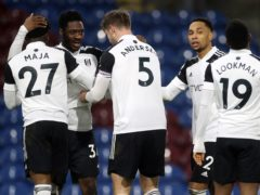 Ola Aina, second left, called for Fulham to keep battling (Carl Recine/PA)