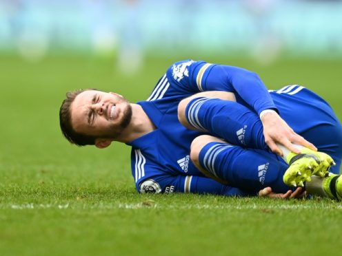 James Maddison is out of Leicester's Europa League tie with Slavia Prague (Michael Regan/PA)