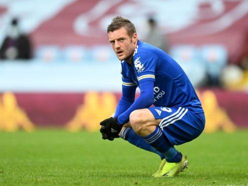 Jamie Vardy has one goal in his last 11 outings for Leicester (Michael Regan/PA)