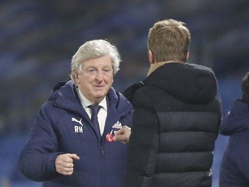 Crystal Palace manager Roy Hodgson, left, got the better of Brighton counterpart Graham Potter (Frank Augstein/PA)