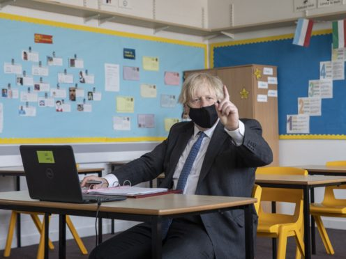 Boris Johnson during a visit to Lewisham (Jack Hill/The Times/PA)