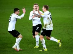 Martyn Waghorn, right, wrapped up victory for Derby (Nigel French/PA)