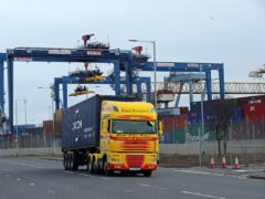 The post-Brexit Northern Ireland Protocol has left freight companies struggling for return loads after extra paperwork has been required (Niall Carson/PA)