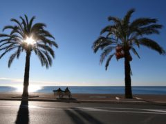 The Promenade des Anglais is being closed under the lockdown (Lionel Cironneau/AP)