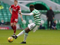 Celtic's Odsonne Edouard (right) scoress against Aberdeen (Andrew Milligan/PA)