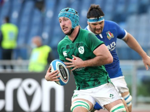 Will Connors scored a brace of tries as Ireland beat Italy (Marco Iacobucci/PA)