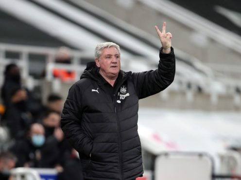 Newcastle head coach Steve Bruce saw victory snatched from his grasp (Richard Sellers/PA)