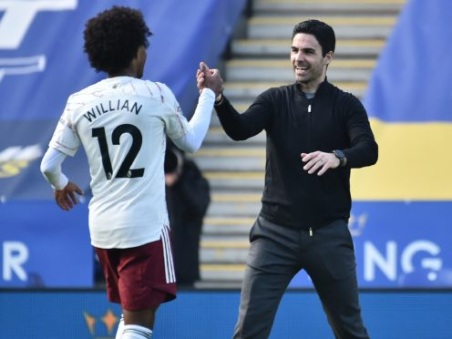 Mikel Arteta (right) wants consistency from his side (Rui Vieira/PA)