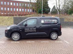 Scottish SPCA vans are predominantly black (Scottish SPCA/PA)