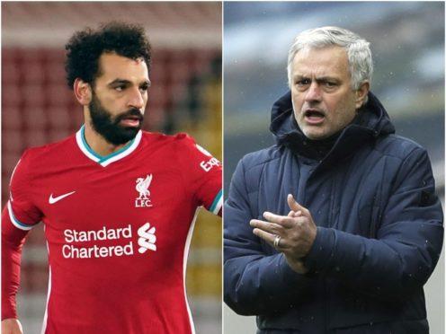 Mohamed Salah and Jose Mourinho (Jon Super/Matt Dunham/PA)