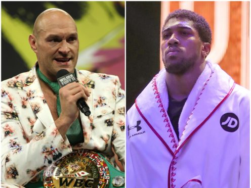 Tyson Fury and Anthony Joshua (PA)