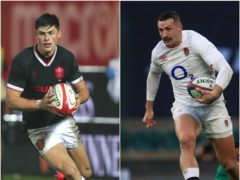 Louis Rees-Zammit (left) and Jonny May go head to head in Cardiff on Saturday (David Davies/Adam Davy/PA)