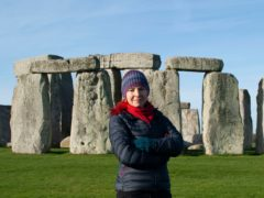 Stonehenge: The Lost Circle Revealed is presented by Alice Roberts (Barney Rowe/Tomos TV/BBC)