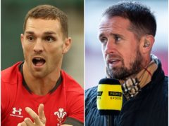 George North and Shane Williams (David Davies/Premier Sports/PA)