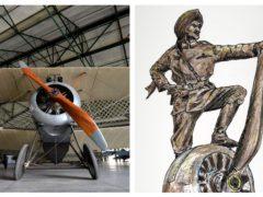 Hardit Singh Malik (right) flew a Sopwith Camel (OCHD/PA)