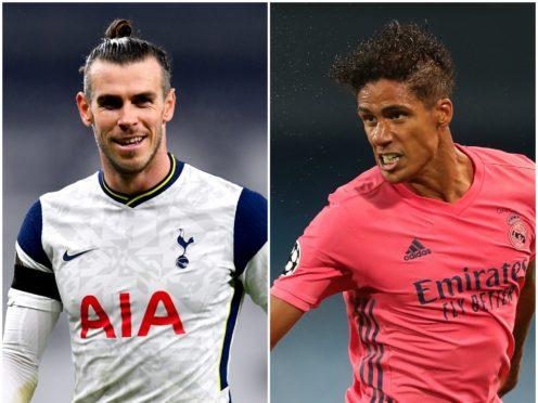 Gareth Bale (left) and Raphael Varane figure in Wednesday's football rumour mill ( Dylan Martinez/Nick Potts/PA)