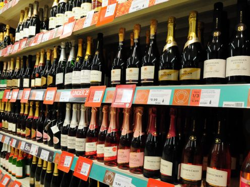 A general view of alcohol on the shelf at a supermarket (Rui Vieira/PA)