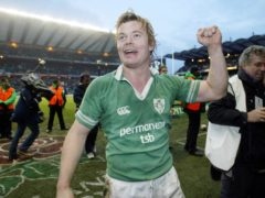 Ireland captain Brian O'Driscoll celebrated a memorable victory over England at Twickenham (Matthew Fearn/PA)