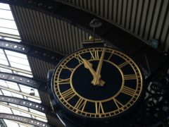 The clock at York Station (Lynne Cameron/PA)