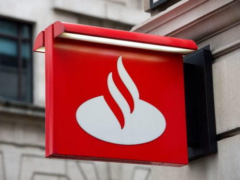 Santander Bank will close more than 100 branches by the end of August (Laura Lean/PA)