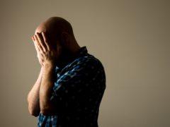 A man showing signs of stress (Dominic Lipinski/PA)