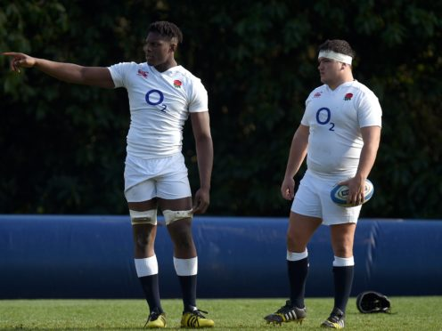 Maro Itoje, left, is a world-class player, says Jamie George, right (Andrew Matthews/PA)