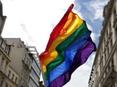 A rainbow flag at the Pride in London parade in 2016 (Daniel Leal-Olivas/PA)