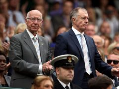 Sir Geoff Hurst, right, has seen the impact dementia has had on former team-mates such as Sir Bobby Charlton (PA)