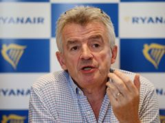 Michael O'Leary's company has seen passenger numbers collapse during the pandemic. (Jonathan Brady/PA)