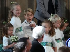 Princess Charlotte, Savannah Phillips Prince George, Isla Phillips and (far right) Mia Tindall (Yui Mok/PA)
