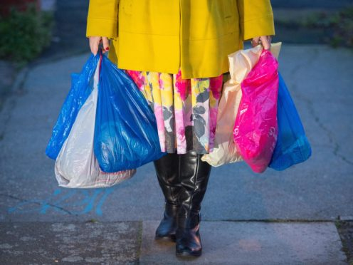 Friends of the Earth Scotland says there was a 80% reduction in the number of plastic bags given out during the first year of the charge (PA)