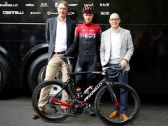 Sir Jim Ratcliffe, left, agreed a deal that saw Team Sky rebranded as Team Ineos (Martin Rickett/PA)