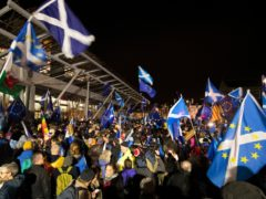 Just 8% of those asked said independence was one of the three biggest issues in Scotland (Jane Barlow/PA)