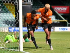 Paul McCallum, right, scored the only goal as Dagenham won at Solihull (Ben Birchall/PA)