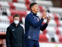 Stevenage manager Alex Revell has a doubt over captain Scott Cuthbert (John Walton/PA)