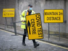 A new walk-through Covid testing centre has opened (Jane Barlow/PA)