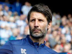 Danny Cowley, pictured, has taken over at Portsmouth on an initial deal until the end of the season (Martin Rickett/PA)