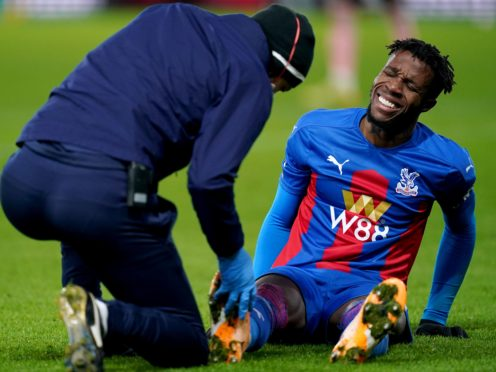 Wilfried Zaha has missed the last month for Crystal Palace with a hamstring injury (John Walton/PA)