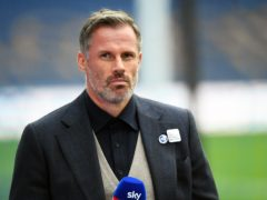 Jamie Carragher has branded Liverpool 'mentality midgets' amid an increasingly fractious Premier League title defence (Peter Powell/NMC Pool)