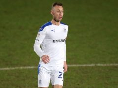 Tranmere defender George Ray is hoping to return to action against Mansfield (Simon Marper/PA)