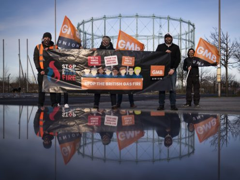 British Gas workers are to stage another strike on April 14 in a row over pay and conditions (Jane Barlow/PA)