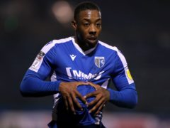 Gillingham defender Ryan Jackson completed the game against MK Dons despite his shoulder problem (Gareth Fuller/PA)