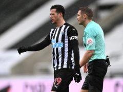 Newcastle full-back Javier Manquillo (left) could return to the squad against Aston Villa (Stu Forster/PA)