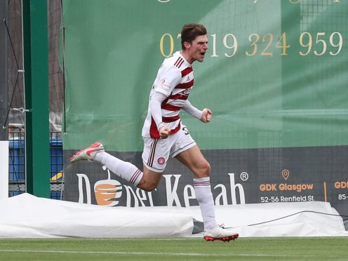Ross Callachan scored a superb goal for Hamilton (Jane Barlow/PA)