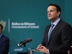 Tanaiste Leo Varadkar during a press conference at Government Buildings, Dublin (Maxwells/PA)
