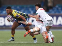 Willis Halaholo (left) in action for Cardiff Blues (David Davies/PA)